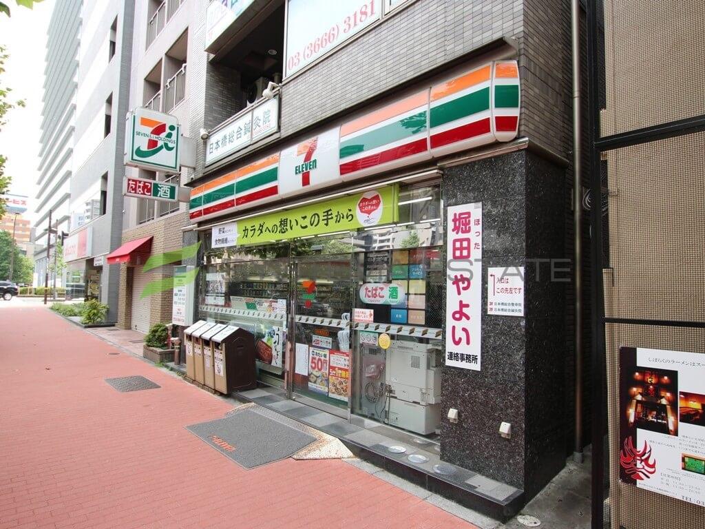 コンビ二:セブンイレブン 日本橋浜町店 369m