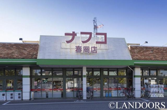 スーパー:ナフコ春岡店 306m
