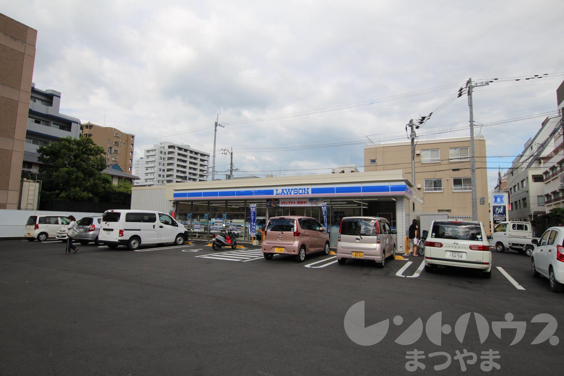 コンビ二:ローソン 松山味酒町店 259m