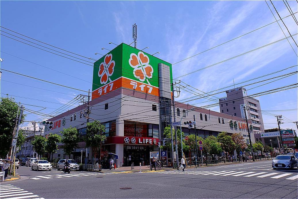 スーパー:ライフ 深川猿江店 459m