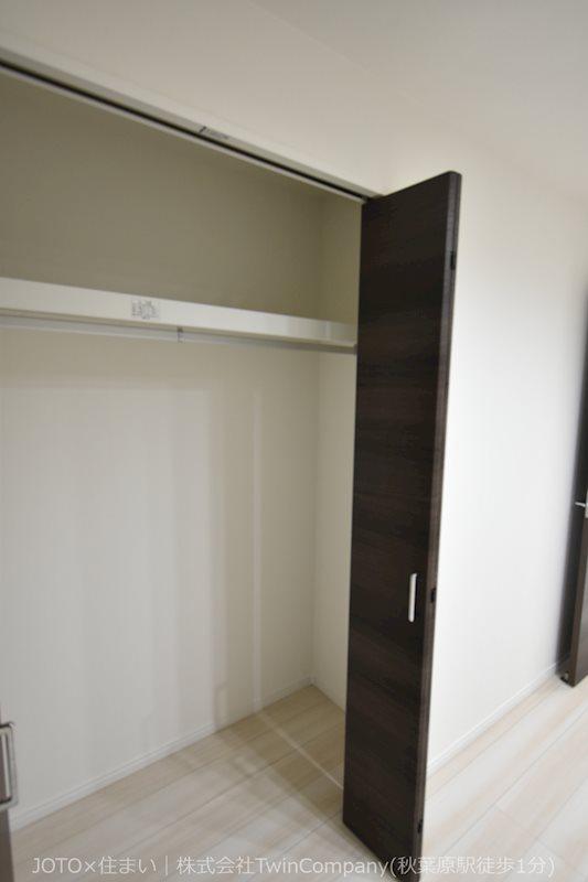 各居室にしっかりと収納スペースが確保されております