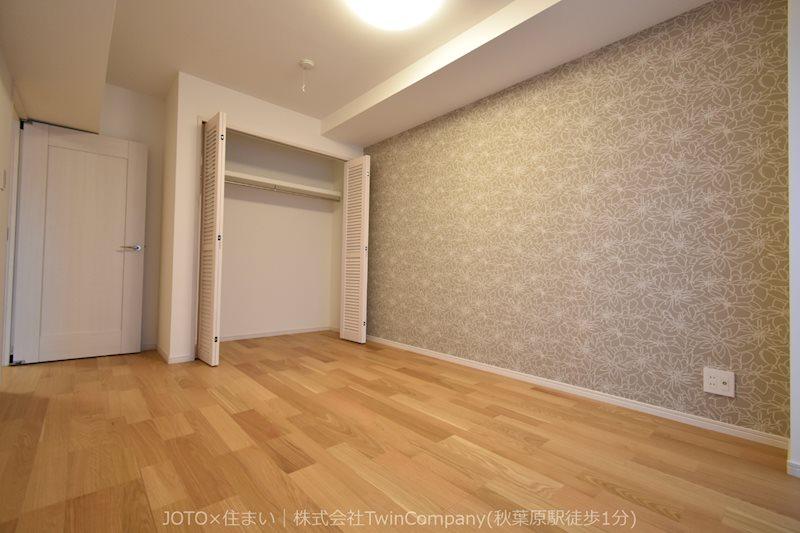 コンパクトながらクローゼットも備わった洋室は趣味のお部屋としても使えそう。
