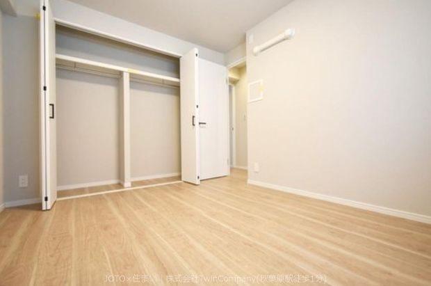 各居室に収納スペースがあり、すっきりとした室内を保てます