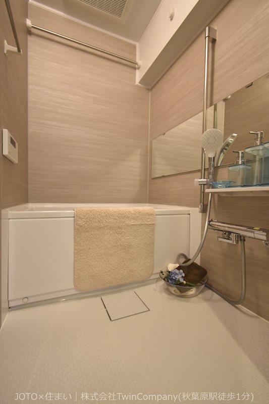 毎日の疲れを癒すバスルームはひと息つける空間です。