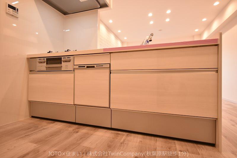 システムキッチン新規交換/食洗機・浄水器付き