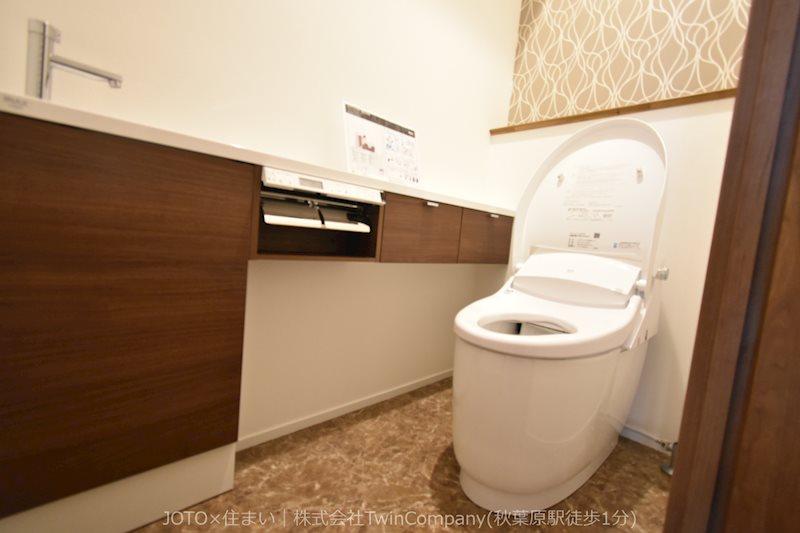 手洗いカウンター付のタンクレストイレ