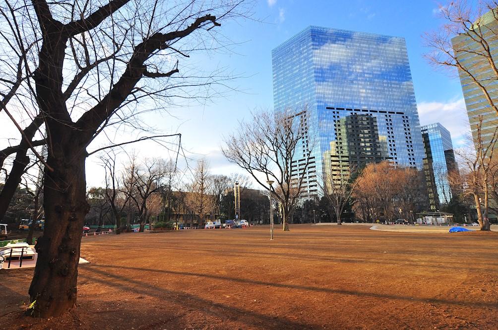 公園:新宿中央公園 676m