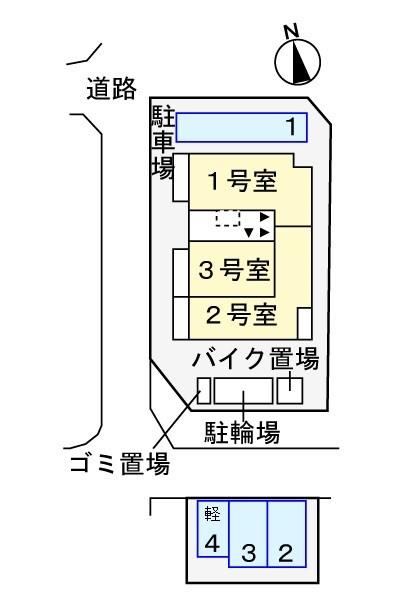 ※敷地内の配置図です
